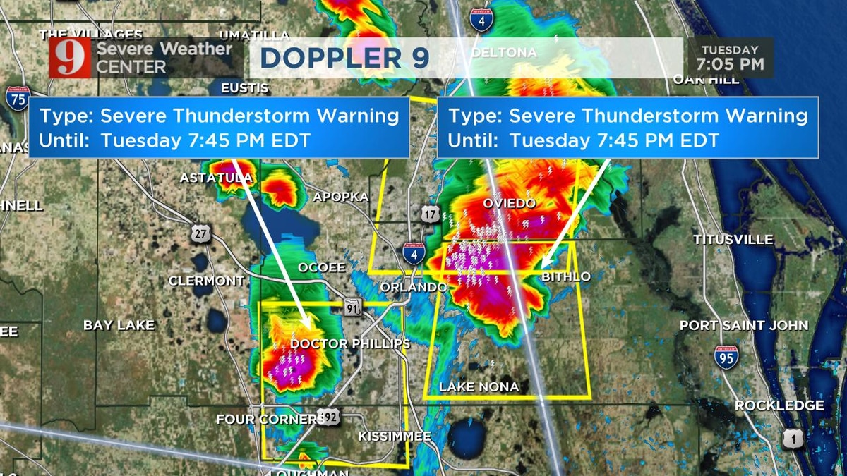 LIVE RADAR: Severe thunderstorm warnings issued for Orange, Osceola counties