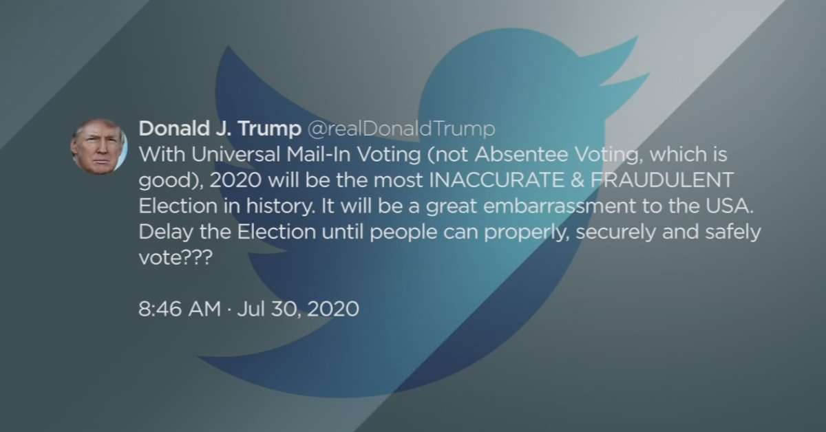 Despite Tweets, Vote by Mail is safe and Election Day cannot be moved by president