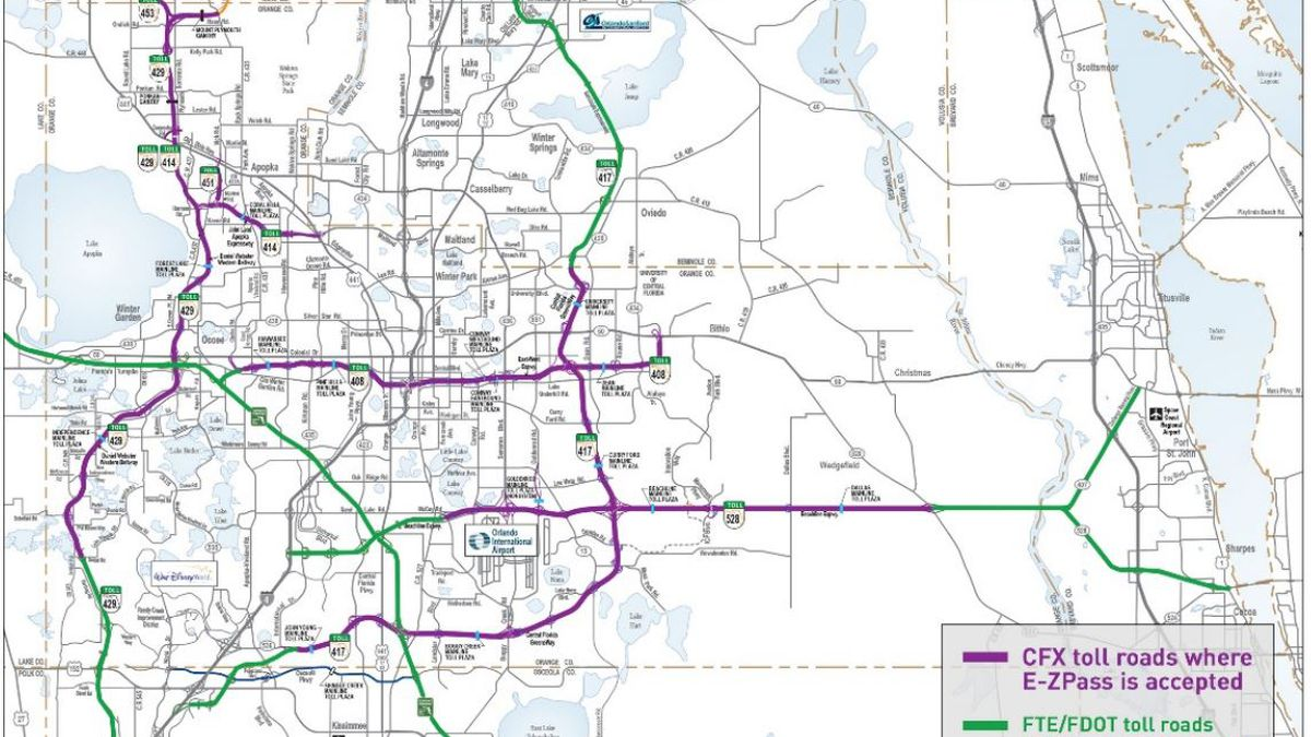 Map Of Central Florida Roads.Transponder Trouble Some Drivers Are Getting Double Billed On
