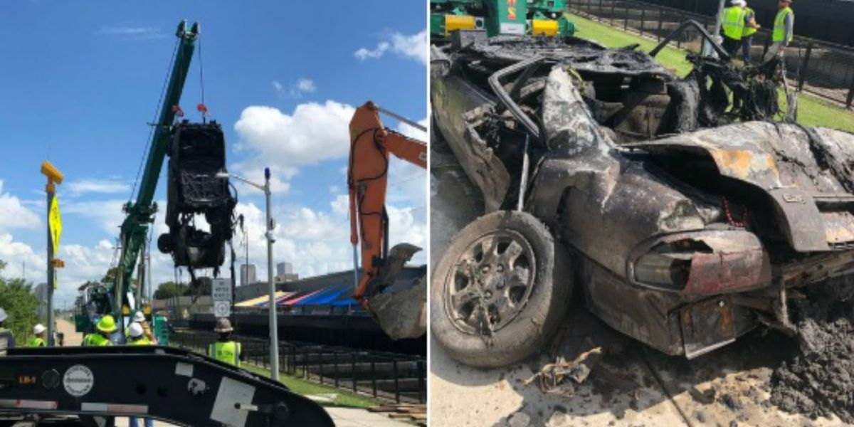 Car removed from underground drainage canal in New Orleans