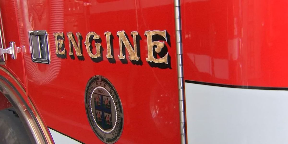 Firefighter jumps into action when engine truck starts burning at fire station