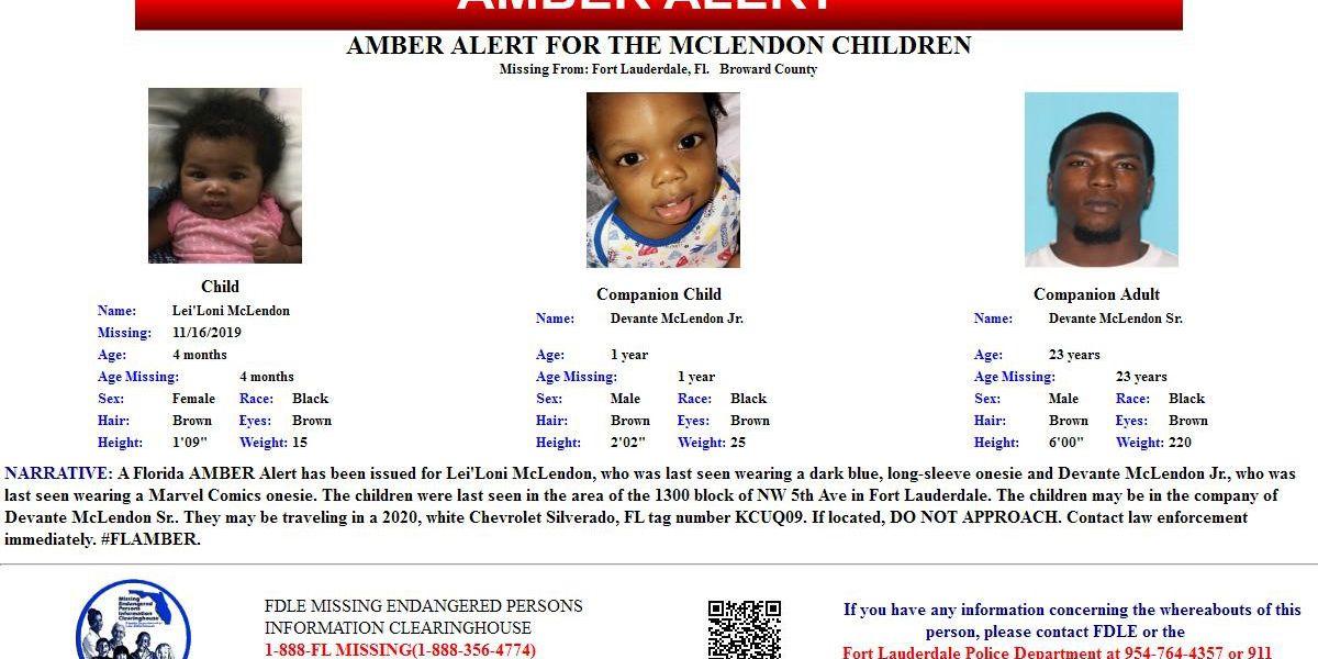 UPDATE: Amber Alert canceled for 2 children in Broward County