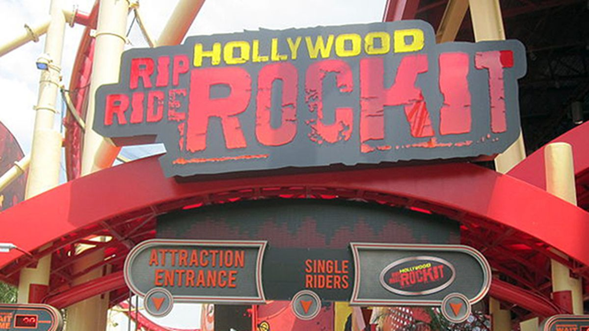 Riders stuck on Rip Ride Rockit roller coaster at Universal Studios