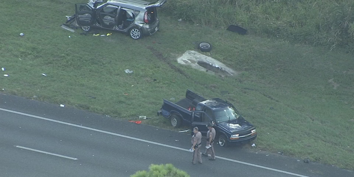 FHP: 3 children not wearing seat belts hurt in crash on State Road 44 in Lake County