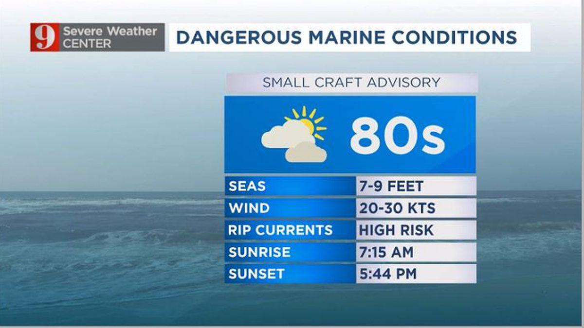 Windy Thursday: Dangerous seas, near-record warmth ahead