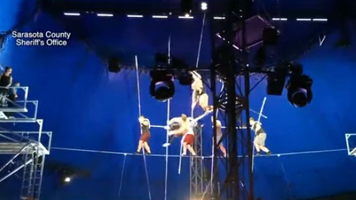 Video released of Circus Sarasota high-wire act fall