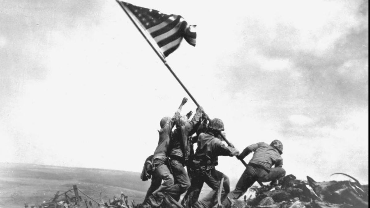 US Marines raised American flag over Iwo Jima 75 years ago today