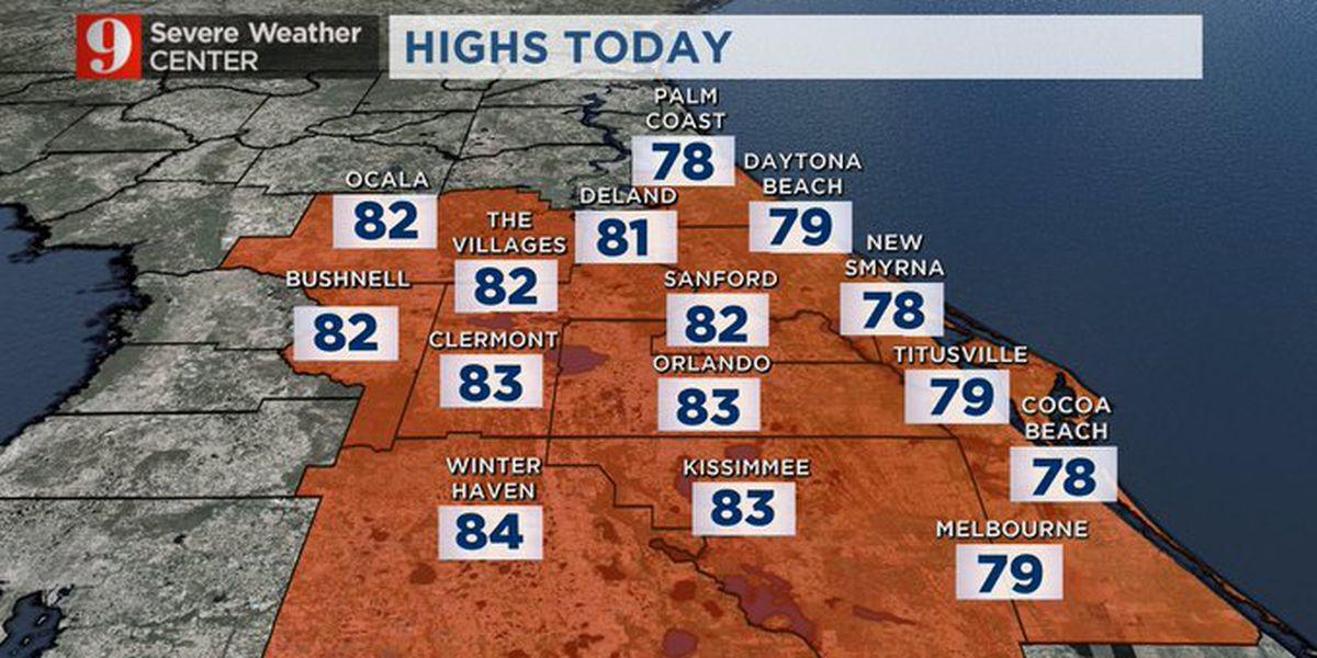 Unusually warm week ahead across Central Florida