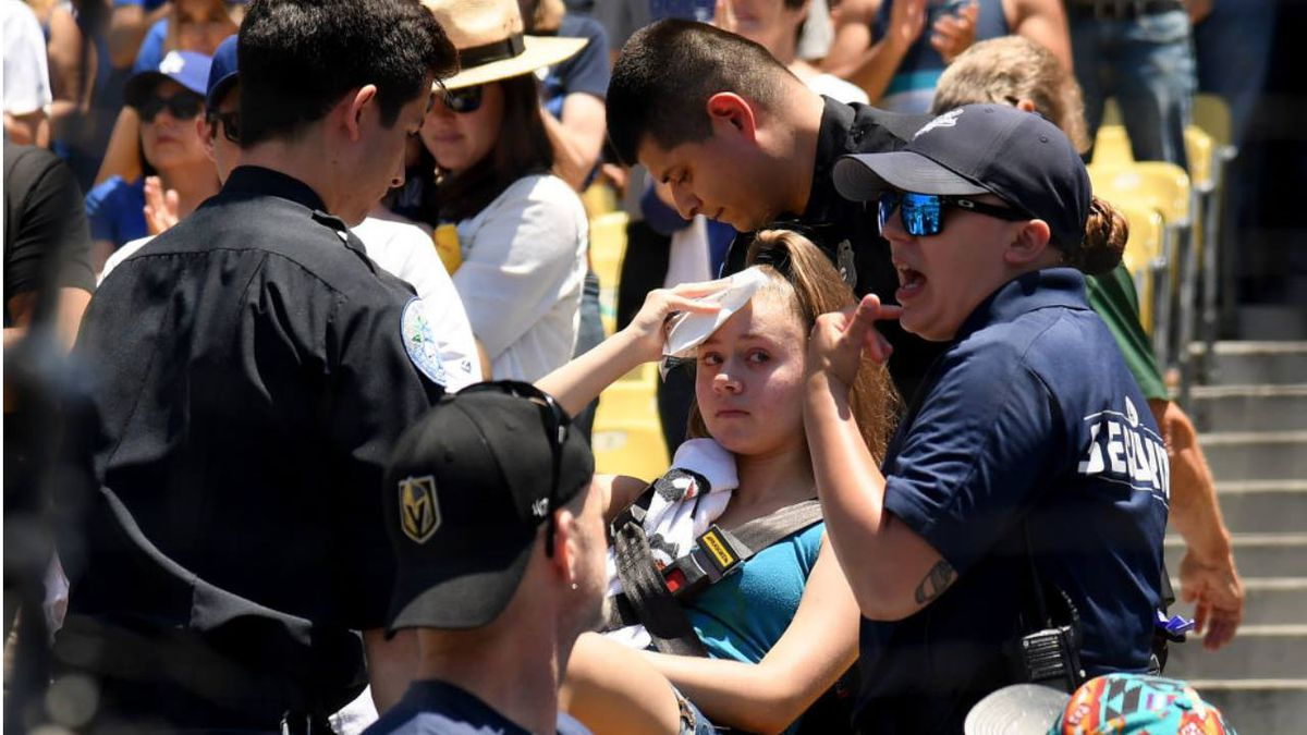 Woman injured by Cody Bellinger's foul ball at Dodger Stadium