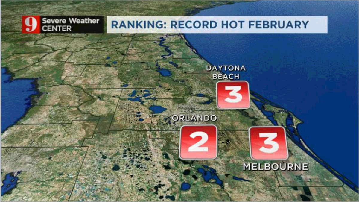 February rankings: In-depth look at record heat across Central Florida
