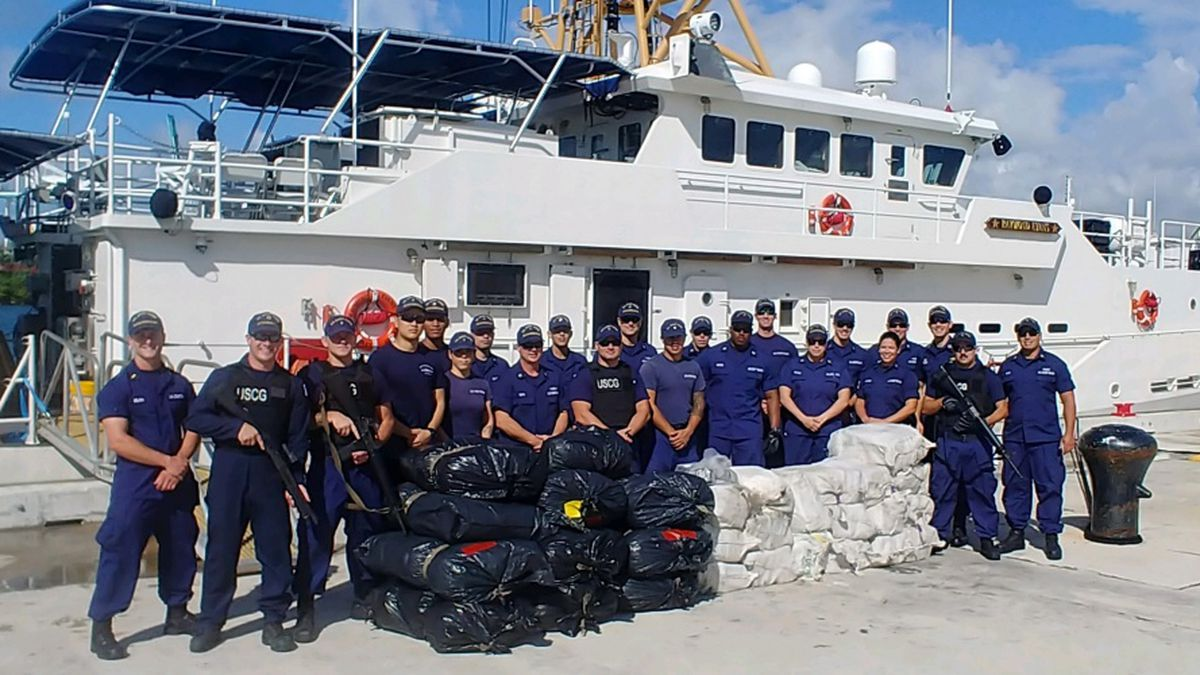 Coast Guard crews seizes 970 pounds of cocaine, 550 pounds of marijuana worth combined $13.5M