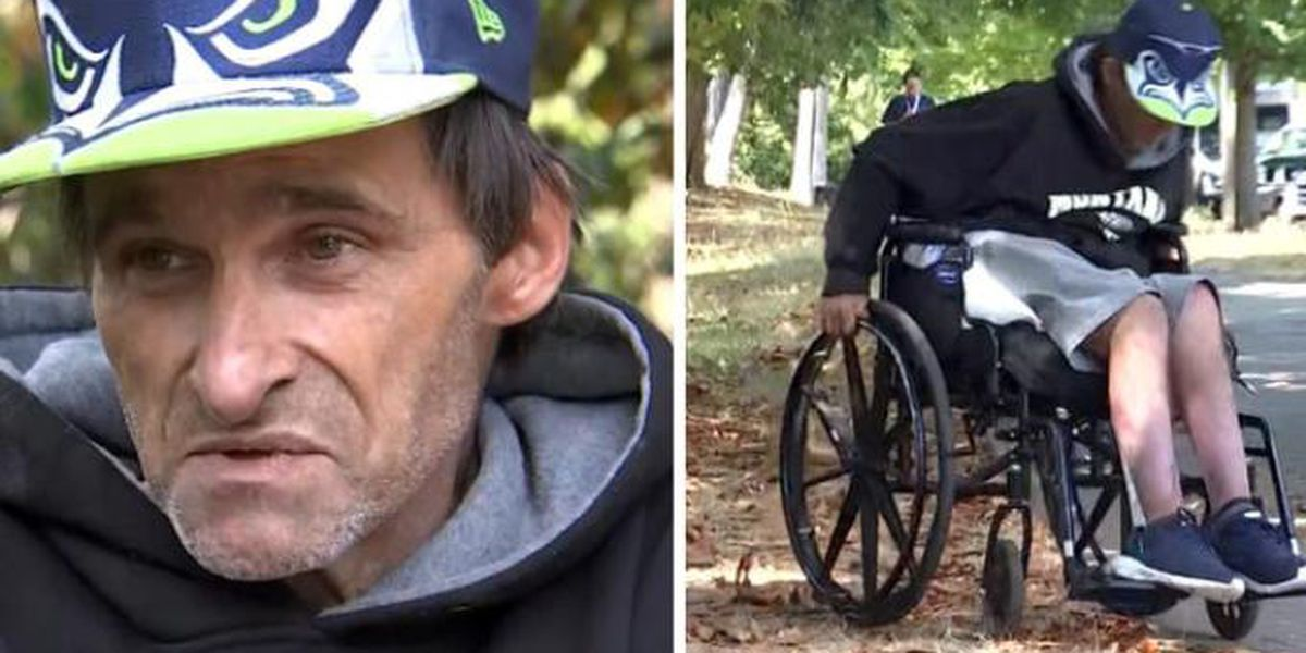 Homeless, quadriplegic veteran living outside VA hospital struggles to get health care