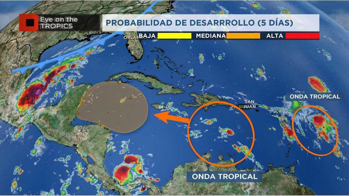 Dos ondas tropicales en camino para el Caribe occidental, atentos a posibles desarrollo tropical
