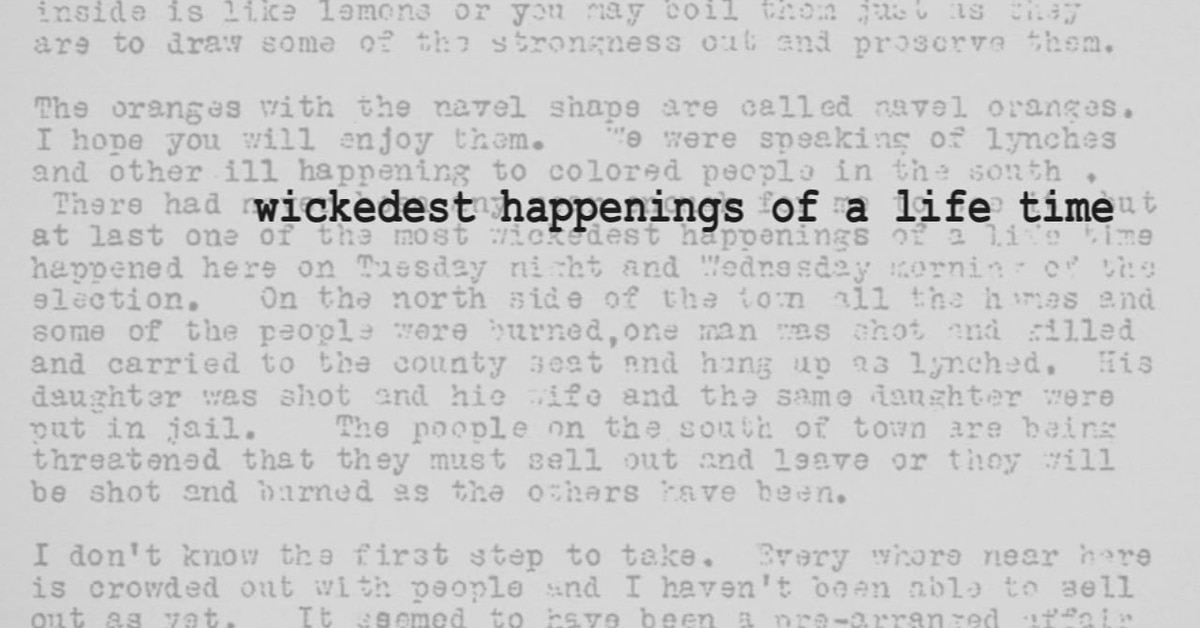 'The most wickedest happenings of a lifetime': Secret letter uncovers details of Ocoee Massacre 100 years later