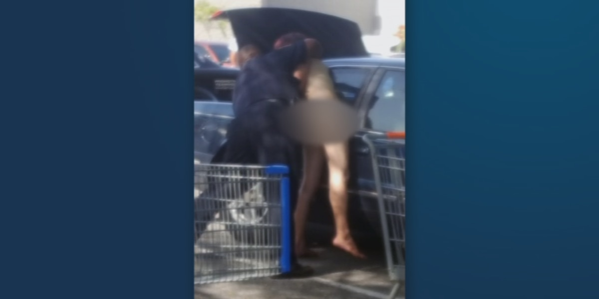 Naked Florida man detained outside of Titusville Walmart