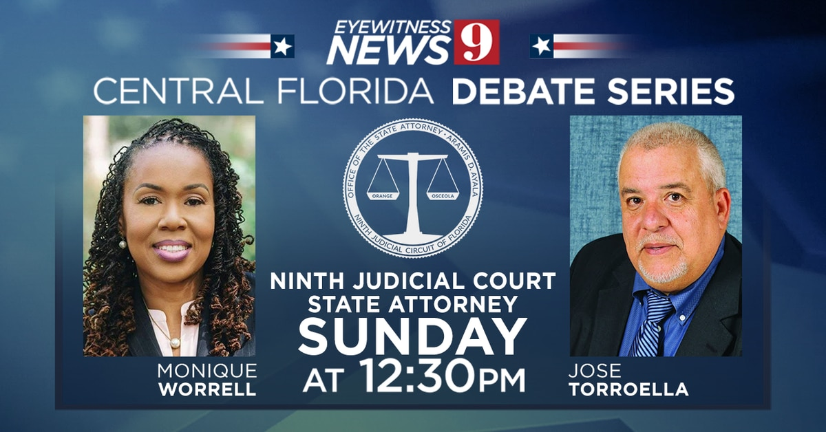 State attorney candidates Monique Worrell, Jose Torroella to face off in Channel 9 debate