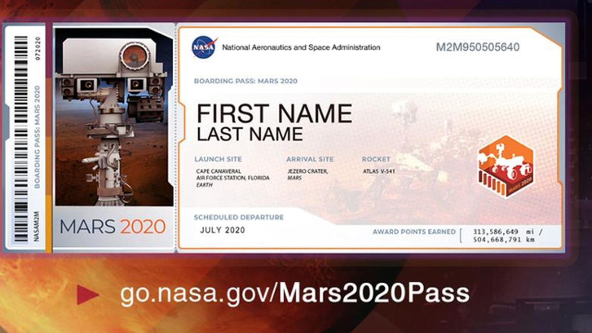 Send your name to the Red Planet on NASA's Mars 2020 Rover