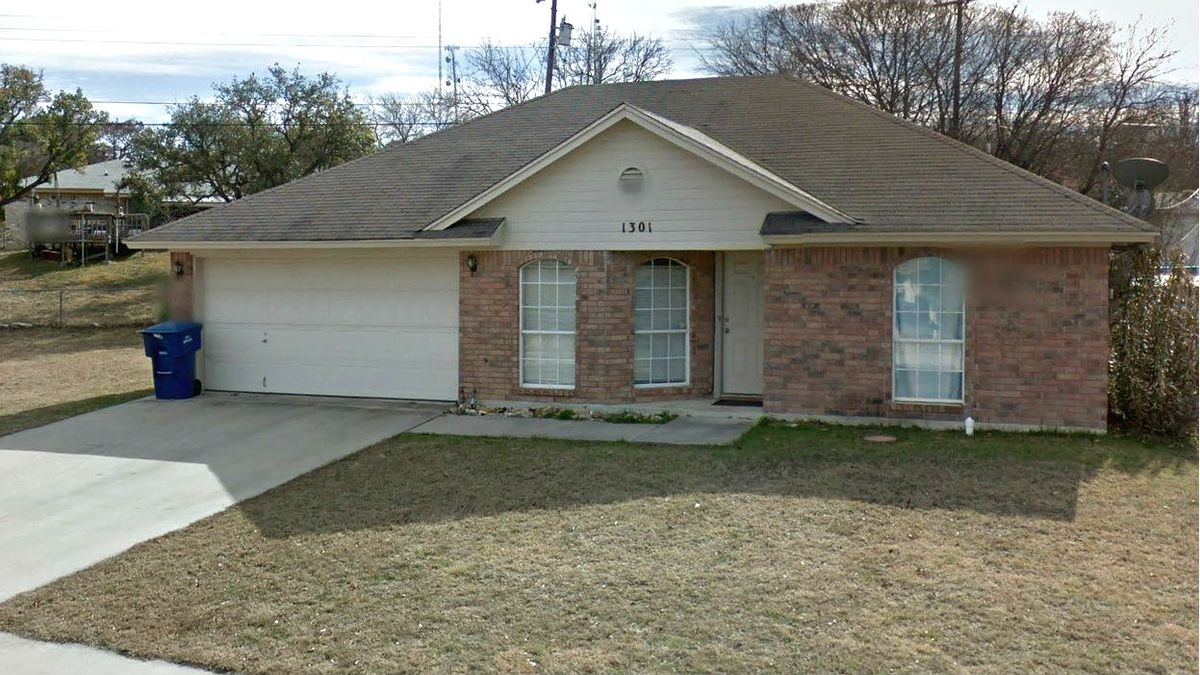 Bryan Richardson, 27, of Copperas Cove, Texas, is charged with three counts of murder in the Saturday, Nov. 12, 2020, deaths of his wife, Kiera Michelle Ware, and their two young children at their home, pictured here in a January 2013 Street View image.