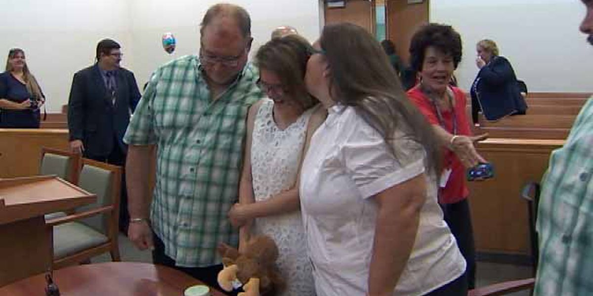 Young lady adopted by Central Florida family
