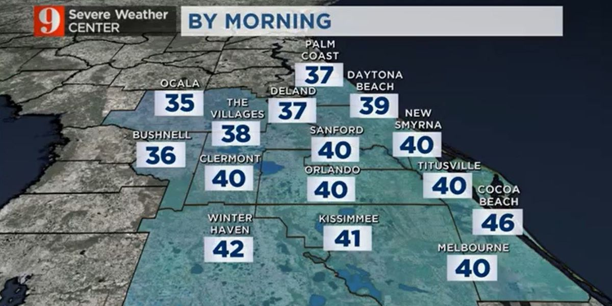 Relaxed winds, clear skies will lead to coldest night of season, so far