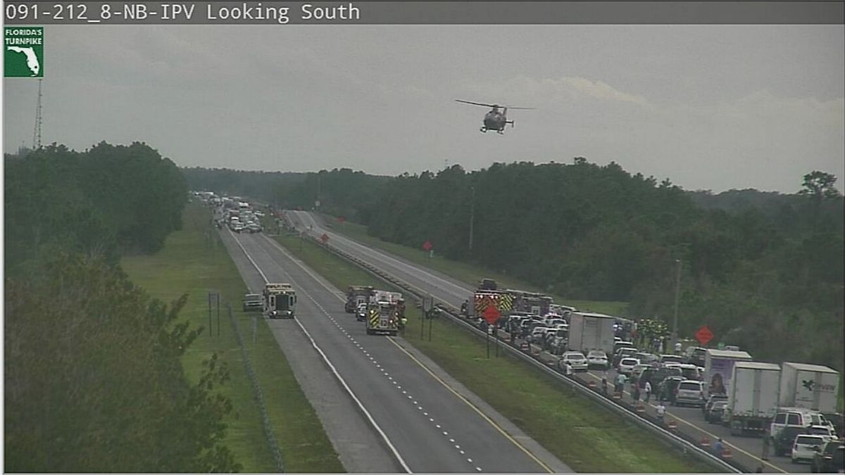 FHP: 1 dead, multiple injured after Ford Explorer with 10 people inside flips on Turnpike