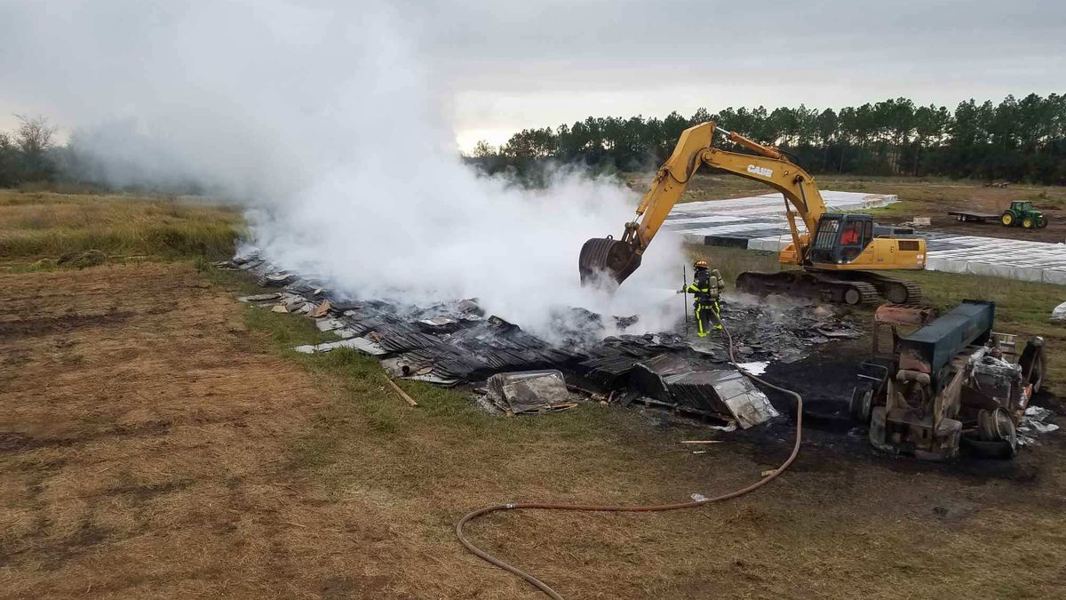 Forklift unloading solar panels in Polk County catches fire, does $2 million in damage