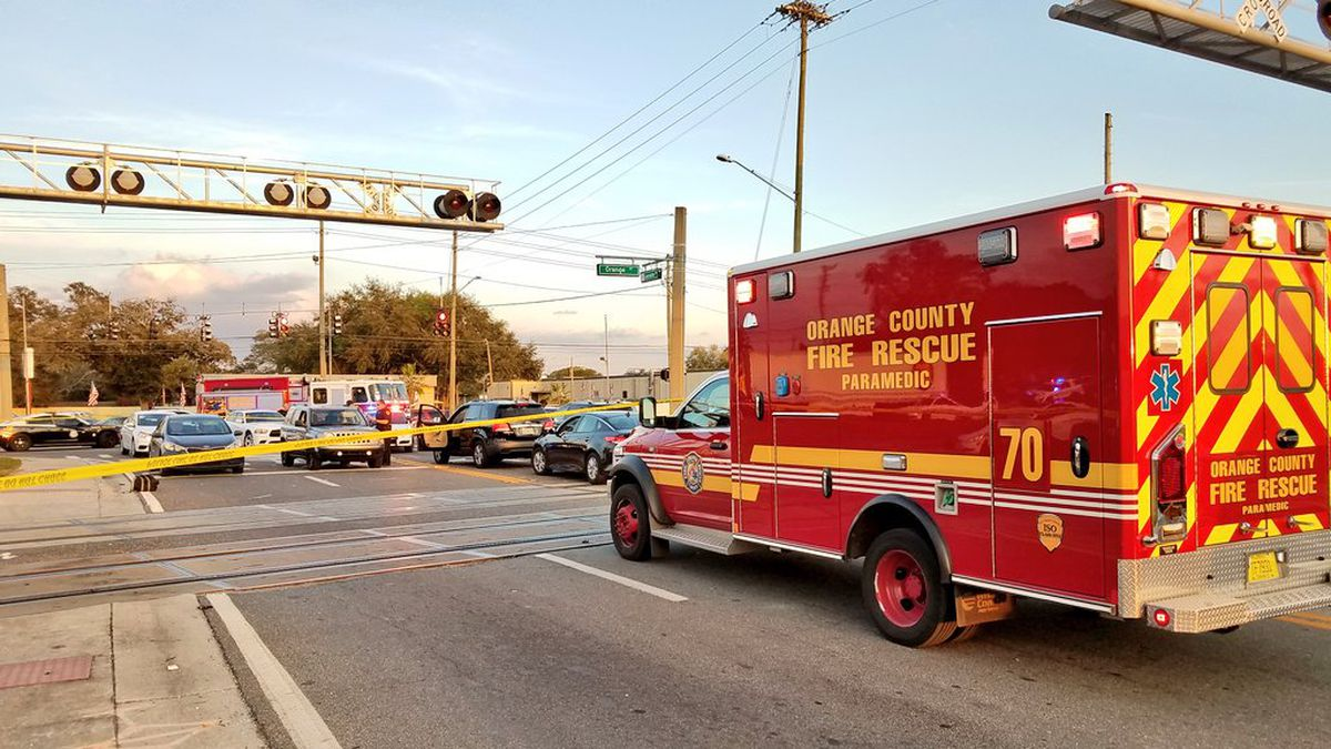 Bicyclist dies after being struck by SunRail train in Orange County, firefighters say