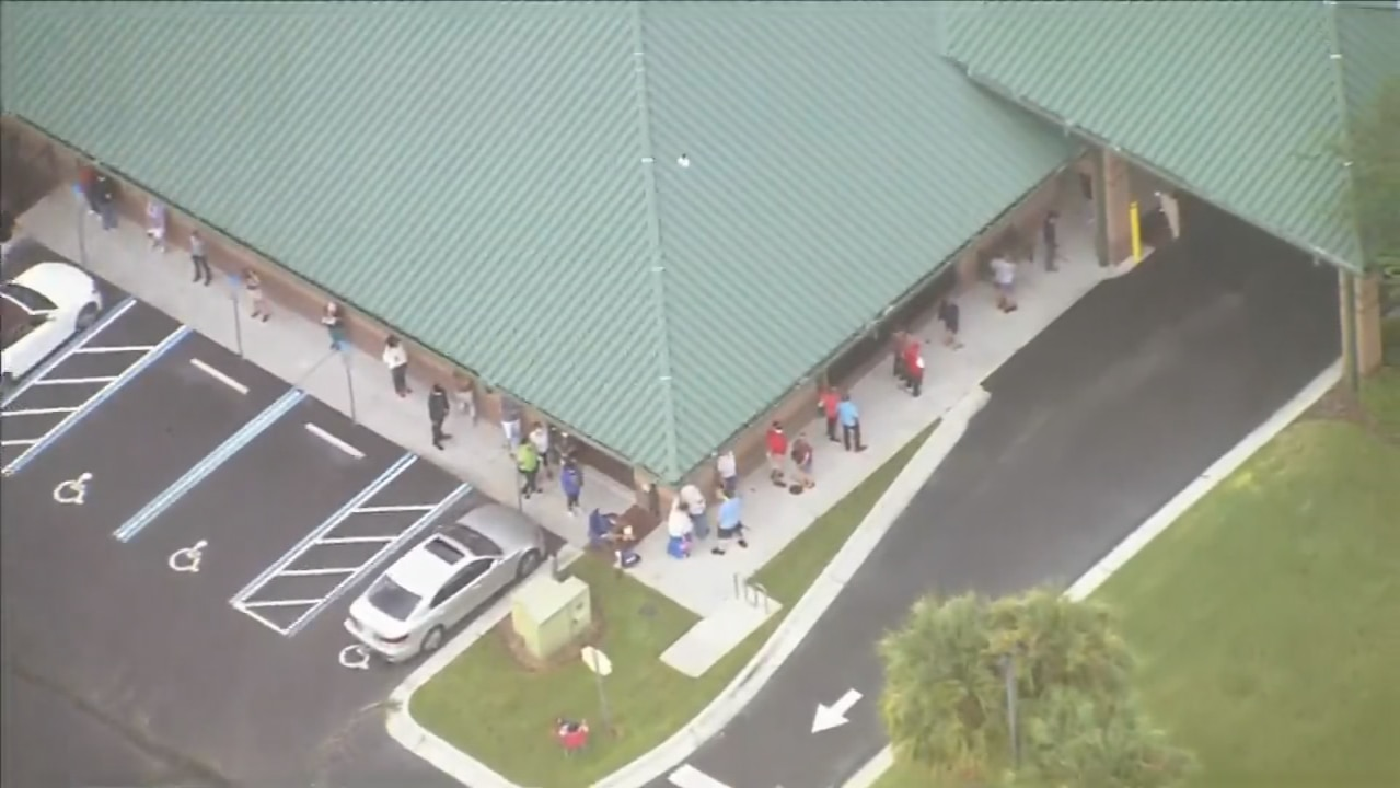 Here's what the first day of early voting looked like in Orange County