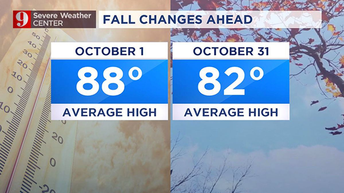 Despite this week's breezy, hot pattern, October brings month of changes