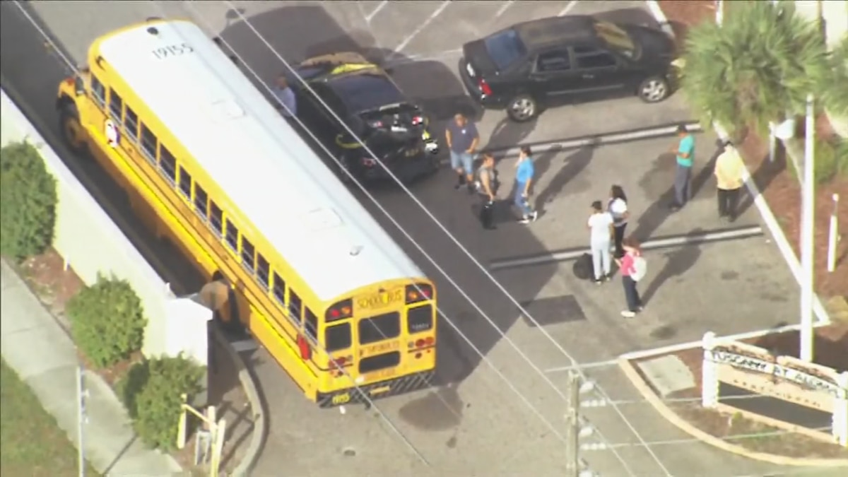 Student, driver hurt in crash involving school bus in Orange County, troopers say