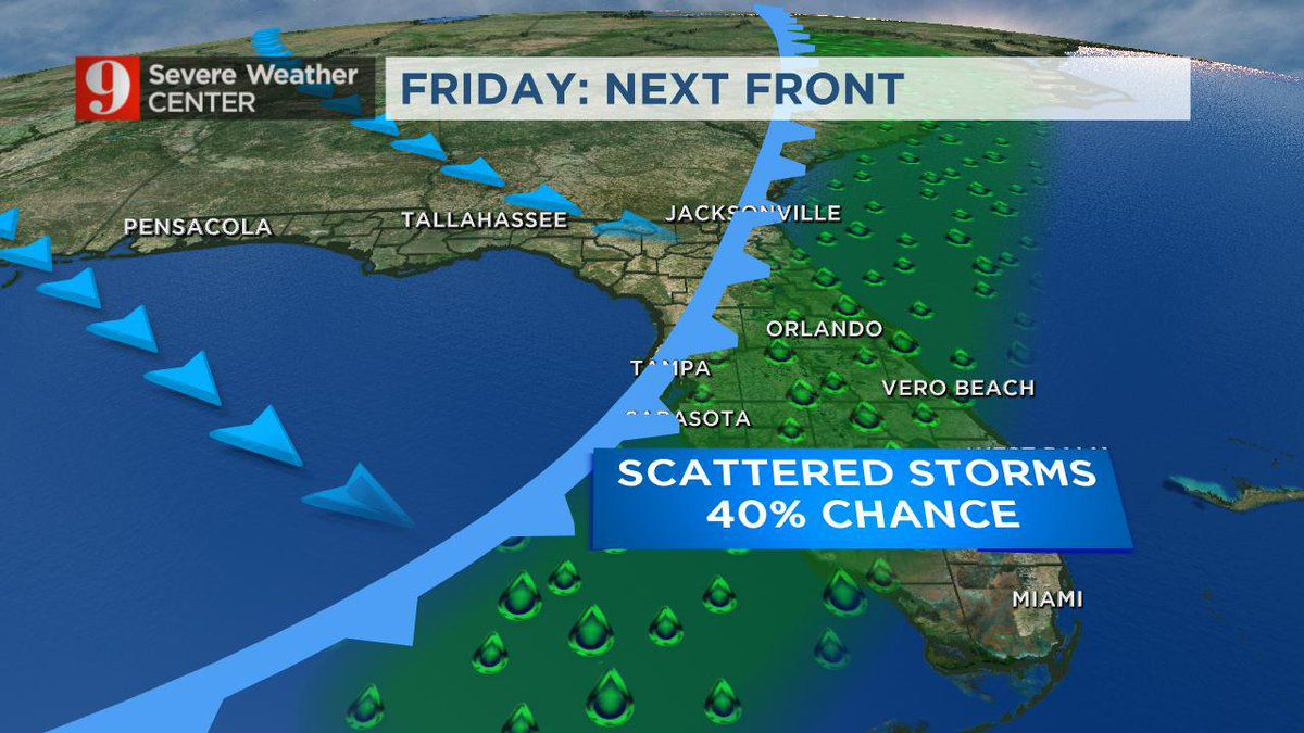 April showers? Cold front brings rain, storms to Central Florida Friday
