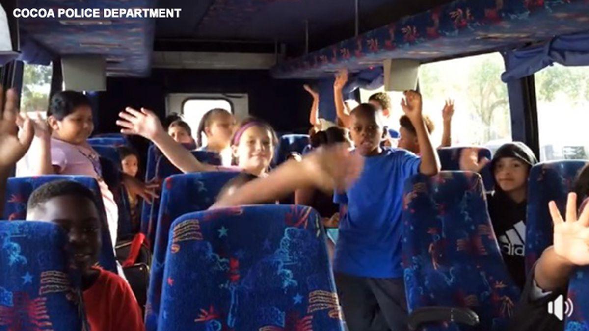 'We're going to Disney World!' Cocoa police take 25 children to Magic Kingdom