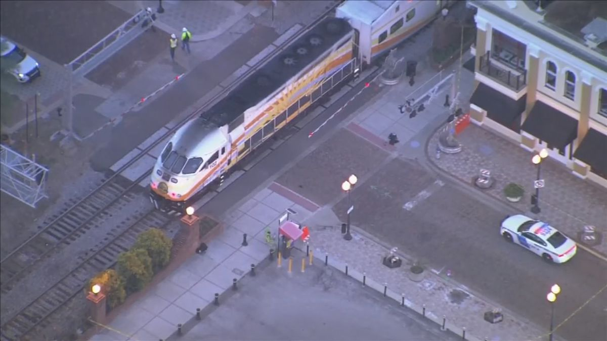 Report: SunRail train involved in crash with pedestrian in downtown Orlando