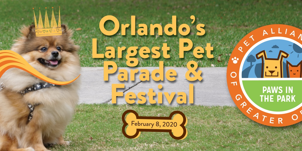Paws in the Park: Dogs PAWrade around Lake Eola