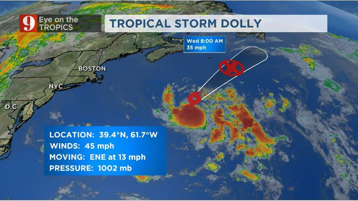Tropical Storm Dolly is born, moving away from the U.S.
