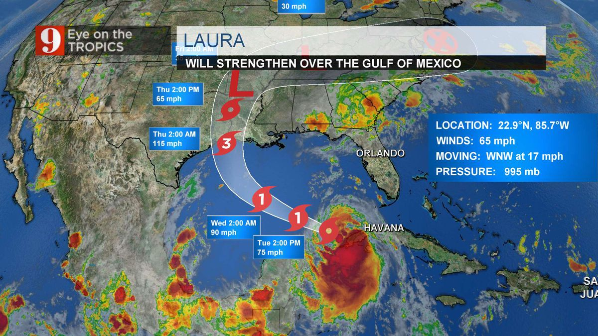 Tracking Laura: posses bigger threat, cat. 3 at landfall; major storm surge, flooding, at least 115mph wind