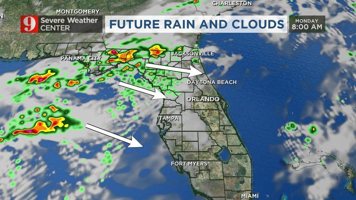 Scattered storms move through Central Florida on Mother's Day