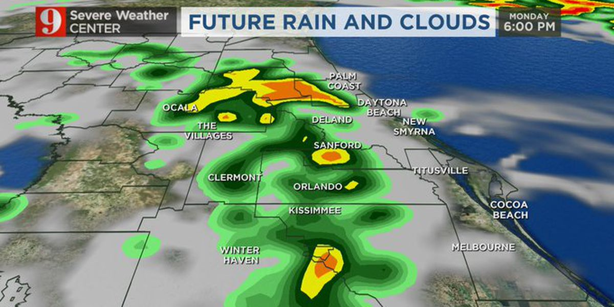 Showers to continue through Monday